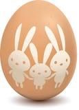 Uovo con il simbolo del coniglio Fotografia Stock
