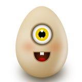 Uovo con un sorriso. Fotografie Stock Libere da Diritti