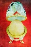 Uovo in contenitore di gioielli Fotografia Stock Libera da Diritti
