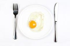 Uovo cotto in camicia fotografie stock libere da diritti