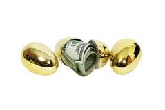 Uovo dei soldi Fotografie Stock Libere da Diritti