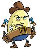 Uovo del cowboy Fotografia Stock Libera da Diritti