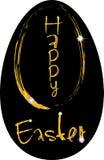 Uovo del fondo di Pasqua in oro Immagini Stock Libere da Diritti