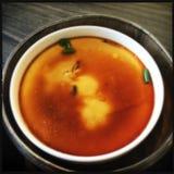 Uovo del vapore con il dim sum della salsa di soia Immagini Stock