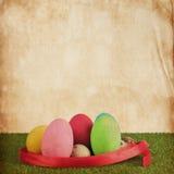 Struttura della carta dell'annata dell'uovo dell'estere Immagine Stock Libera da Diritti