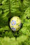 Uovo dell'estere su verde Fotografia Stock Libera da Diritti