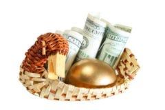 Uovo dell'oro fotografie stock libere da diritti