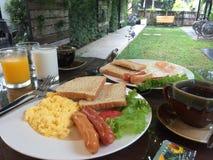 Uovo dell'ostello di chiangmai del brunch della prima colazione Immagine Stock