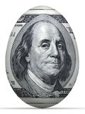 uovo della banconota dei 10 dollari. Fotografia Stock Libera da Diritti