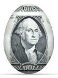 uovo della banconota del 1 dollaro. Fotografia Stock Libera da Diritti