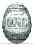 uovo della banconota del lato posteriore del 1 dollaro. illustrazione di stock