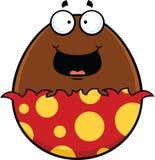 Uovo di cioccolato del fumetto felice Immagini Stock