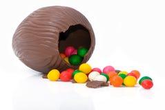 Uovo di cioccolato di Pasqua Immagine Stock Libera da Diritti