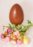 Uovo di cioccolato di Pasqua Fotografia Stock Libera da Diritti