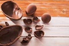 uovo di cioccolato saporito di pasqua fotografia stock libera da diritti