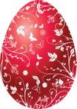 Uovo di colore rosso di Pasqua Fotografia Stock Libera da Diritti