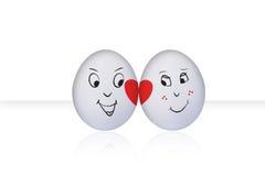 Uovo di flirt su bianco illustrazione vettoriale