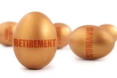 Uovo di nido di pensionamento Fotografia Stock Libera da Diritti