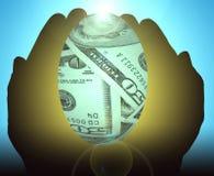 Uovo di nido finanziario Fotografia Stock Libera da Diritti