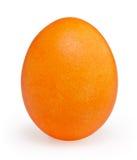 Uovo di Pasqua arancio isolato su bianco Fotografia Stock Libera da Diritti