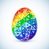 Uovo di Pasqua astratto dell'arcobaleno dei triangoli della geometria Fotografia Stock