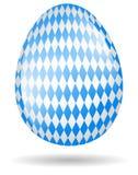 Uovo di Pasqua bavarese isolato Immagine Stock