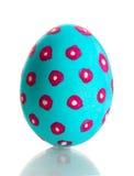 Uovo di Pasqua Blu fotografia stock libera da diritti