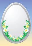 Uovo di Pasqua Con gli elementi floreali Fotografie Stock Libere da Diritti