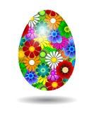 Uovo di Pasqua con i fiori Immagine Stock