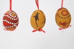 Uovo di Pasqua con il motivo australiano Fotografia Stock