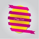 Uovo di Pasqua Con il nastro Immagine Stock