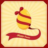 Uovo di Pasqua con il nastro Immagine Stock Libera da Diritti