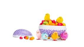 Uovo di Pasqua Con la caramella Fotografie Stock Libere da Diritti