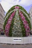 Uovo di Pasqua - decorazione dei fiori Fotografie Stock Libere da Diritti