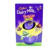 Uovo di Pasqua del cioccolato di Cadbury in una scatola fotografia stock libera da diritti