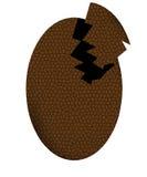 Uovo di cioccolato rotto Fotografie Stock Libere da Diritti