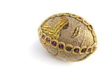 Uovo di Pasqua dell'oro Fotografia Stock
