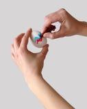 Uovo di Pasqua di coloritura Fotografia Stock Libera da Diritti