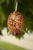 Uovo di Pasqua di legno Immagini Stock