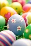 Uovo di Pasqua Di massima del colpo Fotografie Stock Libere da Diritti