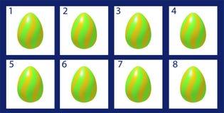 Uovo di Pasqua di rotazione di animazione illustrazione di stock