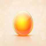 Uovo di Pasqua di vetro Fotografia Stock