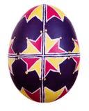 Uovo di Pasqua Dipinto nello stile piega Fotografia Stock Libera da Diritti