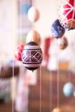 Uovo di Pasqua Dipinto nello stile piega Fotografie Stock
