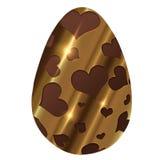 Uovo di Pasqua dorato del cioccolato Immagine Stock Libera da Diritti
