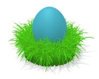 Uovo di Pasqua In erba Fotografia Stock Libera da Diritti