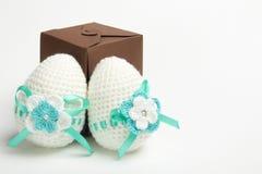 Uovo di Pasqua fatto da filato immagini stock