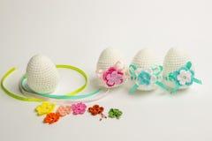 Uovo di Pasqua fatto da filato fotografie stock libere da diritti