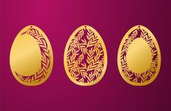 Uovo di Pasqua felice tagliato laser Uovo di Pasqua ornamentale dello stampino di vettore royalty illustrazione gratis