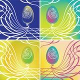 Uovo di Pasqua floreale Royalty Illustrazione gratis